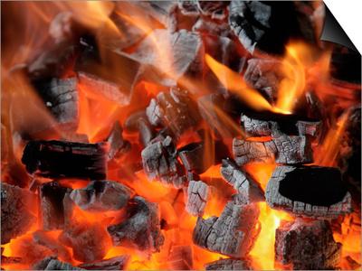 Charcoal Fire Prints by Arthur Morris