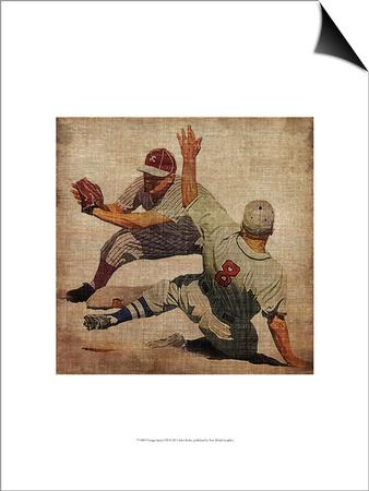 Vintage Sports VII Art by John Butler