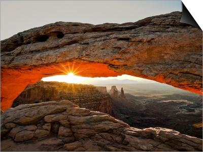 Sunrise at Mesa Arch, Canyonlands National Park, Utah, USA Posters by Gustav Verderber