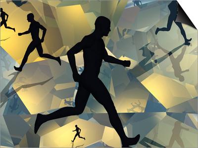 Running Man Art by Carol & Mike Werner