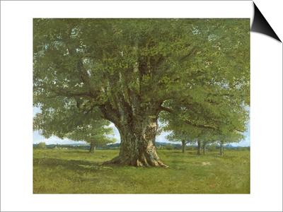 The Oak of Flagey, Called Vercingetorix Reprodukce Magnetic Art