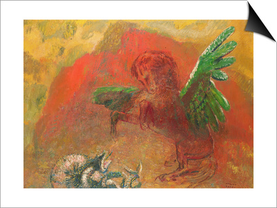 Pegasus Triumphant Prints by Odilon Redon