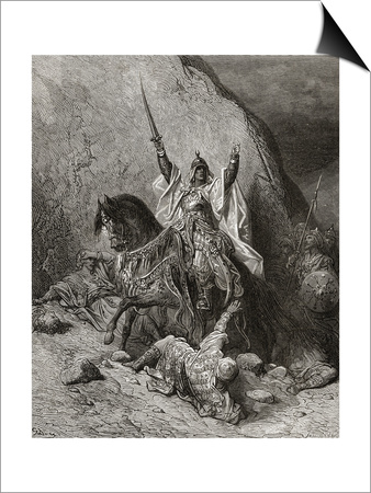 Saladin Yusuf (D.1173) Sultan During Second Crusade, Illustration from 'Bibliotheque Des Print by Gustave Doré