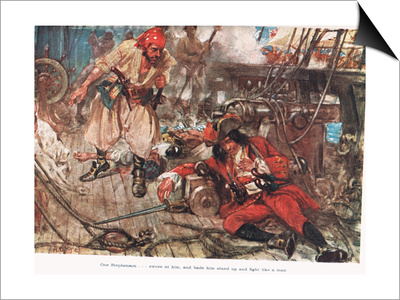 One Stephenson...Bade Him Stand Up and Fight Like a Man, Illustration from  Prints by A.D. McClintock