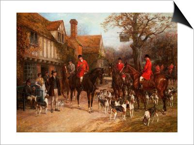 The Meet, Ye Olde Wayside Inn Art by Heywood Hardy