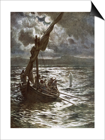 Jesus Walking Upon the Sea Art by William Brassey Hole