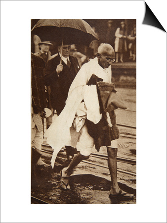 Gandhi Visiting London for 'Round Table' Conferences, September 1930 Prints by  English Photographer