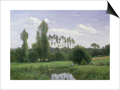 View at Rouelles, 1858 Posters by Claude Monet