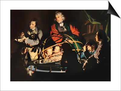 The Orrery, Exh. 1766 Poster by Joseph Wright Of Derby