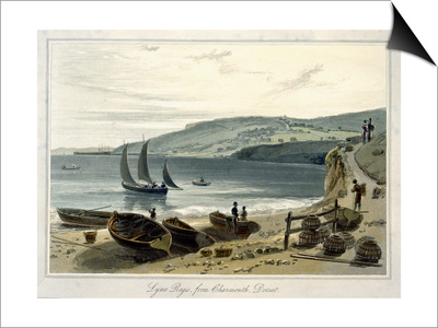 Lyme Regis, from Charmouth, Dorset Posters by William Daniell