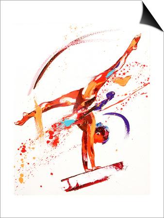 Gymnast One, 2010 Magnetic Art Baskı
