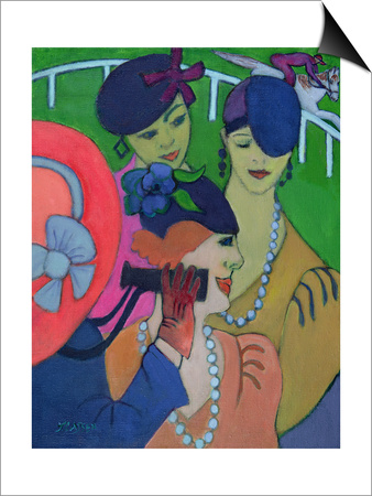 A Day at the Races Art by Jeanette Lassen
