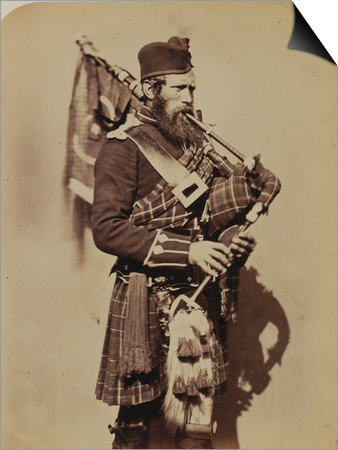 Pipe-Major Macdonald, 72nd (Duke of Albany's Own Highlanders) Regiment of Foot Posters by  Joseph Cundall and Robert Howlett!