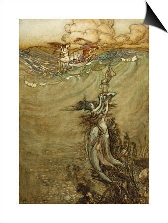 Jewels from the Deep, 1909 Prints by Arthur Rackham