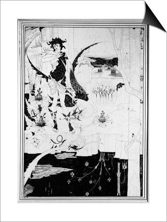 Siegfried, from Act II of 'The Ring of the Nibelung' by Wagner Posters by Aubrey Beardsley