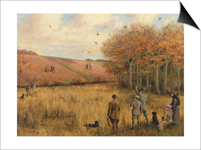 Pheasant Shooting Poster by Christopher William Strange