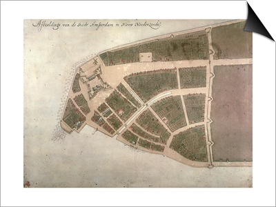 View of New Amsterdam, Costello Plan, 1660 Posters by Jacques Cortelyou