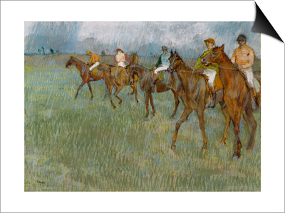 Jockeys in the Rain, C.1886 Posters by Edgar Degas