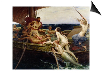 Ulysses and the Sirens, 1909 Art by Herbert James Draper
