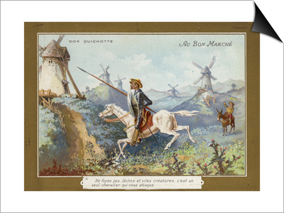 Don Quixote on Horseback Posters