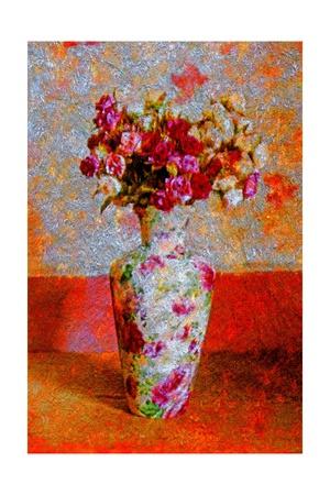 Flower Vase Giclee Print by Andre Burian