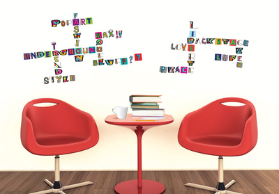 Glitter Alphabet Wall Decal