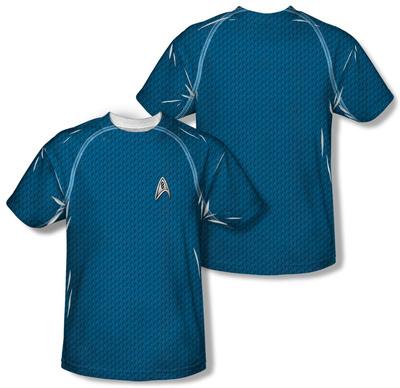 Star Trek - Science Uniform Costume Tee (Front/Back Print) T-Shirt