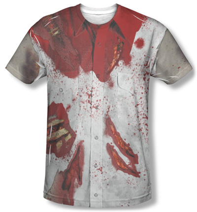 Ripped Zombie Costume Tee Sublimated