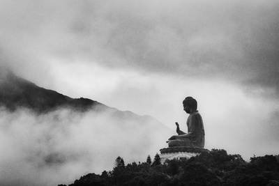 Tian Tan Buddha Photographic Print by picture by Chris Kench Photography