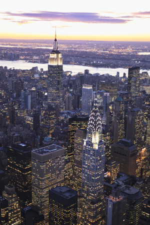 Chrysler Building and Empire State Building Photographic Print by Berthold Trenkel