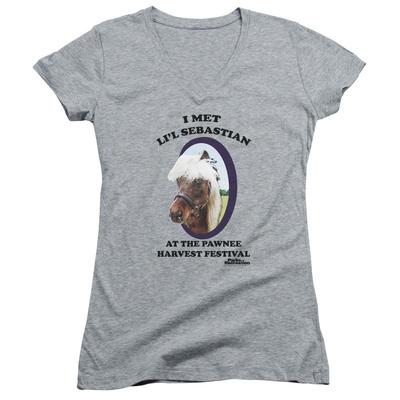 Juniors: Parks & Recreation - Li'l Sebastian V-Neck T-shirts