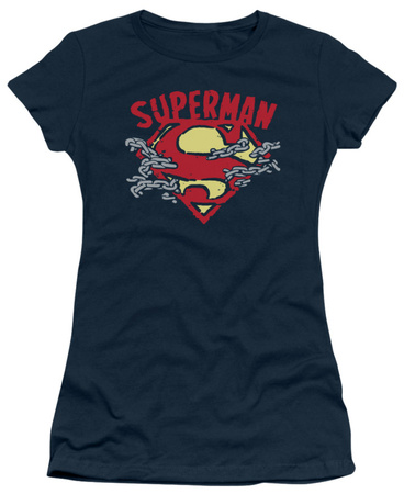 Juniors: Superman – Chain Breaking T-shirts