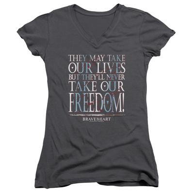Juniors: Braveheart - Freedom V-Neck Womens V-Necks