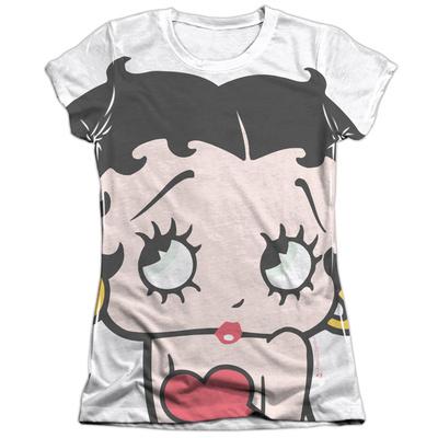 Juniors: Betty Boop - Big Boop Head T-shirts