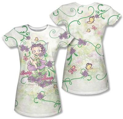 Juniors: Betty Boop - Flower Fairy (Front/Back Print) T-Shirt