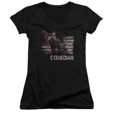 Juniors: Watchmen - Comedian V-Neck Womens V-Necks