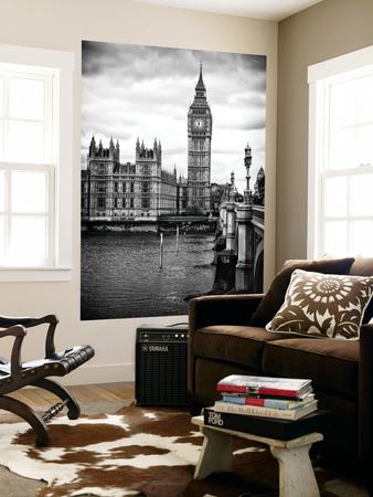 Wall Mural - Palace of Westminster and Big Ben - Westminster Bridge - London - England Wall Mural by Philippe Hugonnard