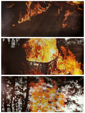 Burning the Past Photographic Print by Tim Kahane