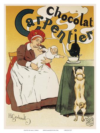 Chocolat Carpentier, Art Nouveau, La Belle Époque Prints by Henri Gerbault