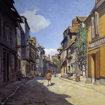 Rue De La Bavolle in Honfleur - by Claude Monet Photographic Print