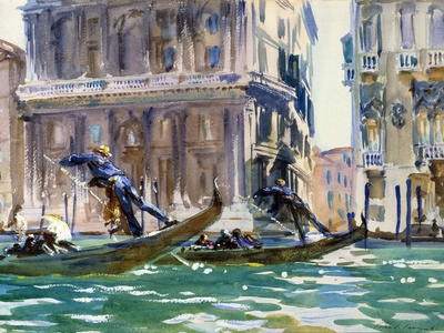 View of the Grand Canal in Venice by John Singer Sargent Photographic Print