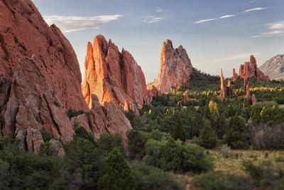 Usa, Colorado, Colorado Springs, Garden of Gods, Rock Formations Photographic Print by Bryan Mullennix