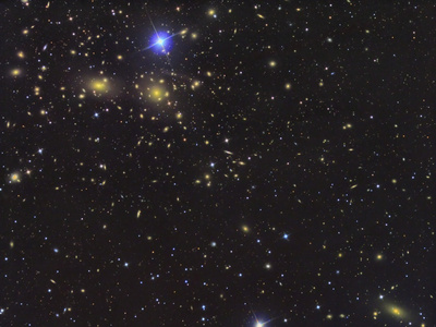 Ic 3949, Deep Field of Galaxies in Coma Berenices Photographic Print