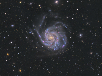 Messier 101, the Pinwheel Galaxy Photographic Print