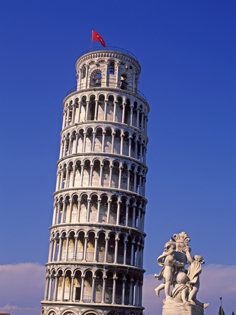 Pisa, Leaning Tower, Tuscany, Italy Photographic Print by Hans-Peter Merten