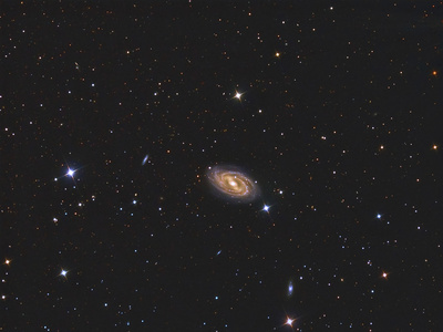 Messier 109, a Barred Spiral Galaxy in the Constellation Ursa Major Photographic Print