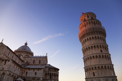 The Leaning Tower of Pisa and Duomo at Dusk Photographic Print by Martin Child