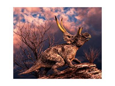 Diabloceratops Was a Ceratopsian Dinosaur from the Cretaceous Period Art