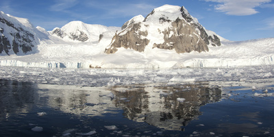 An Antarctic Bay Behind Danco Island, Antarctic Peninsula Photographic Print