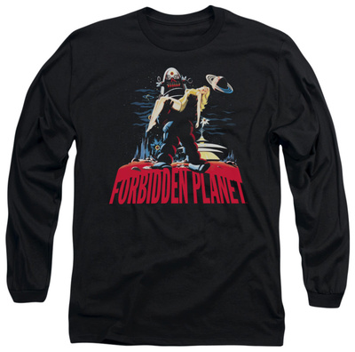 Long Sleeve: Forbidden Planet - Robby And Woman Long Sleeves